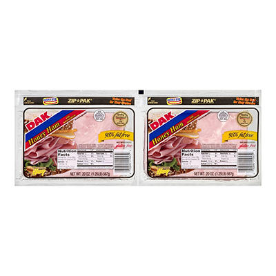 DAK 98% Fat-Free Honey Ham, 2 ct./20 oz.