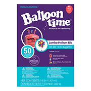 Balloon Time Jumbo Helium Kit - Festive Rouge