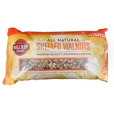Wellsley Farms Shelled Walnuts, 3 lbs.