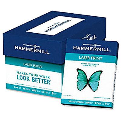 Hammermill Laser Print Copy/Laser Paper, 98 Brightness, 24 lb., Letter