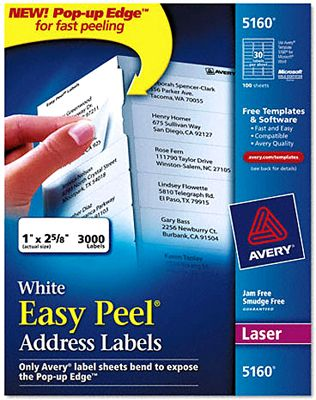eb76363ab Avery Laser Address Labels with Smooth Feed Sheets