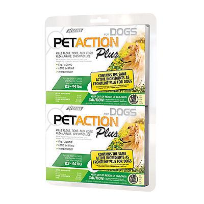 PetAction Plus Flea and Tick Control for Medium Dogs, 2 pk.