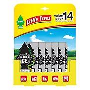 Little Trees Black Ice Car Air Fresheners, 14 pk.