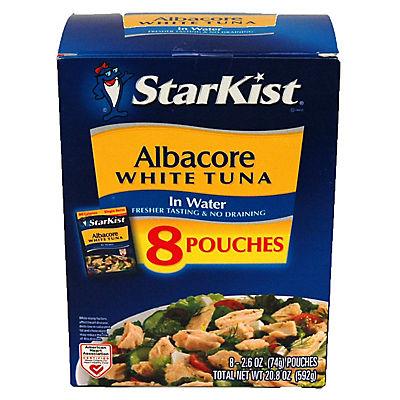 Starkist Albacore Tuna in Water Pouches, 8 ct./2.6 oz.