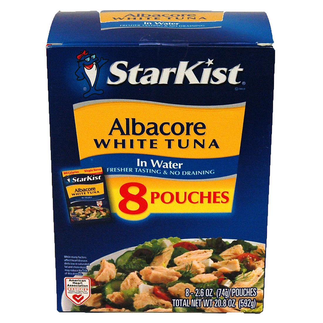 Starkist Albacore Tuna in Water Pouches