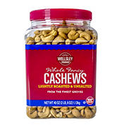 Wellsley Farms Unsalted Roasted Whole Cashews, 2.5 lbs.