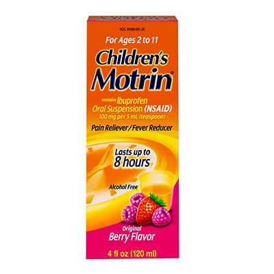 Children's Motrin Oral Suspension, Ibuprofen,Pain Relief, 2 pk./4 Oz.