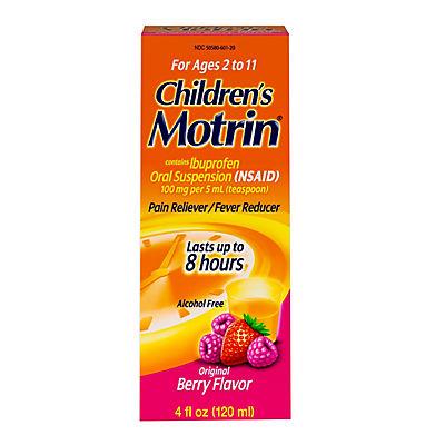 Children's Motrin Oral Suspension, Ibuprofen,Pain Relief, 2 pk./4 Oz.