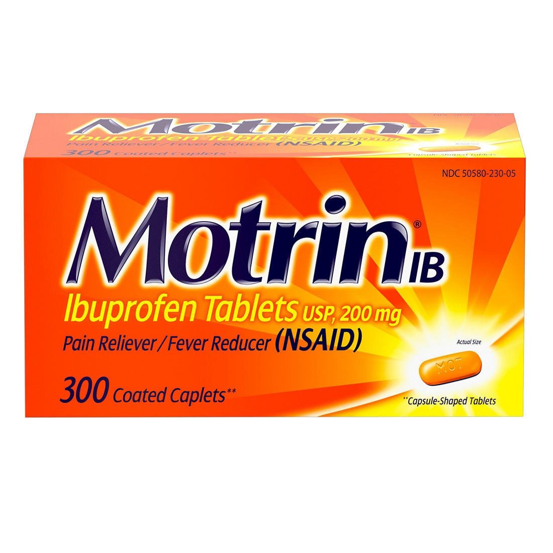 Motrin IB Ibuprofen, Aches and Pain Relief 300 ct