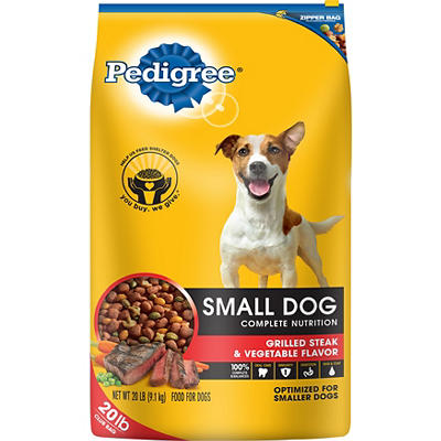 Pedigree Small Dog Complete Nutrition Dog Food, 20 lbs. - Steak & Vege