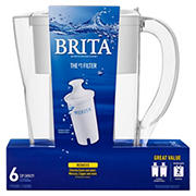 Brita Space Saver 6-Cup Pitcher with 2 Filters