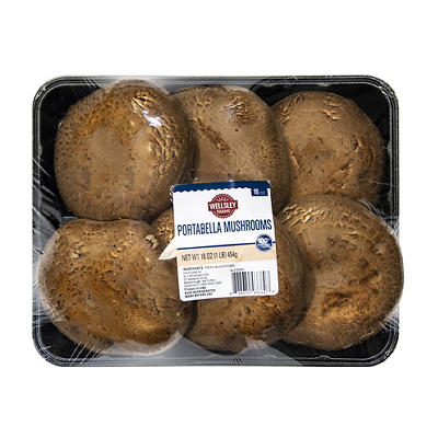 Wellsley Farms Portabella Mushroom Caps, 16 oz.