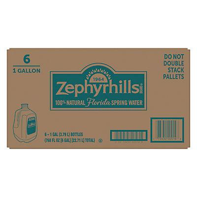 Zephyrhills 100% Natural Spring Water, 6 pk./1 gal.