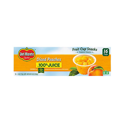 Del Monte Diced Peaches in Light Syrup, 16 pk./4 oz.