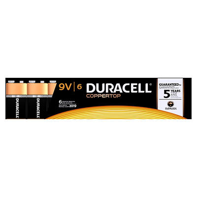 Duracell Coppertop 9V Batteries, 6 ct.