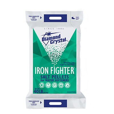 Cargill Diamond Crystal Iron Fighter Salt Pellets, 40 lbs.