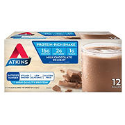 Atkins Ready To Drink Shake, Milk Chocolate Delight, 12 ct./11 oz.
