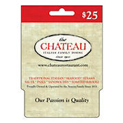 $25 Chateau Restaurant Gift Card