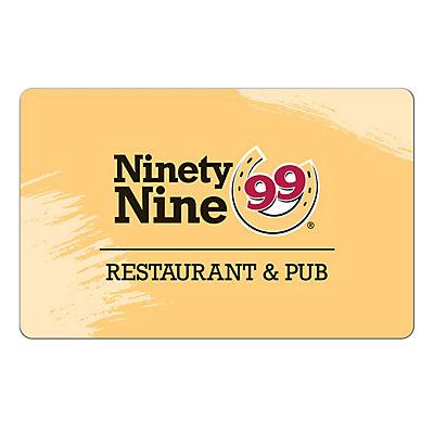 $25 Ninety Nine Restaurant Gift Card