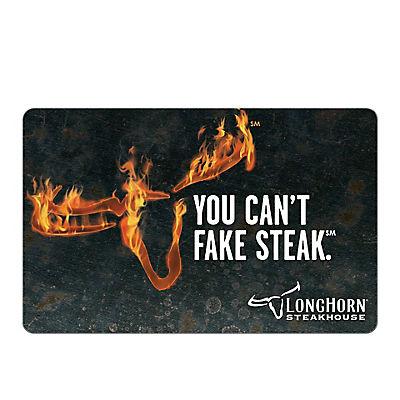 $25 Darden Longhorn Steakhouse Gift Card