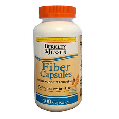 Berkley Jensen Psyllium Capsules, 400 ct.