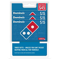 Deals on $45 Dominos Pizza Gift Card