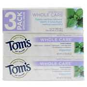 Tom's of Maine Whole Care Paste, 3 pk./4.7 oz.
