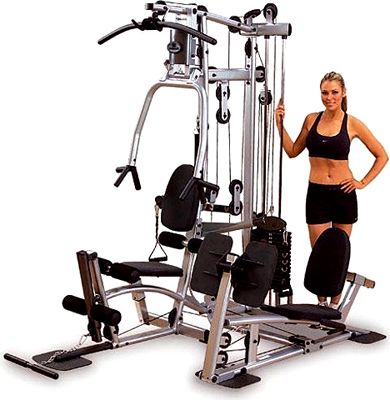 Powerline home gym with functional training arms and leg press