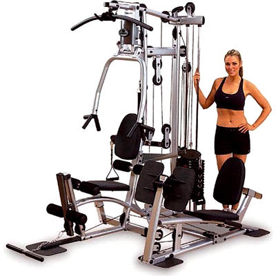 Powerline Home Gym with Functional Training Arms and Leg Press Attachm