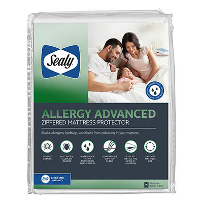Sealy Queen Size Posturepedic Advanced Protection Zippered Mattress Pr
