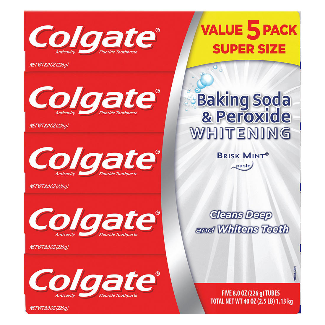 Colgate Baking Soda And Peroxide Whitening Toothpaste Brisk Mint