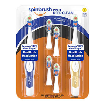 Arm & Hammer Truly Radiant Spinbrush with Refills, 2 pk.