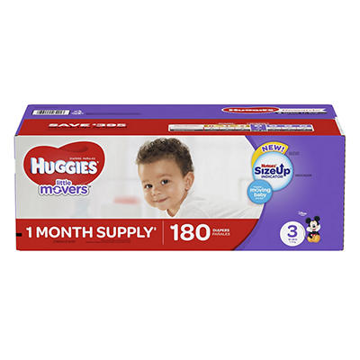 Huggies Little Movers Diapers, Step 3, 180 ct.