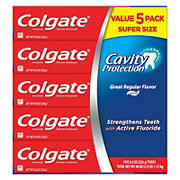 Colgate Cavity Protection Toothpaste with Fluoride, Great Regular Flavor, 5 pk./8 oz.