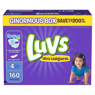 Luvs Ultra Leakguards Diapers, Size 4, 160 ct.