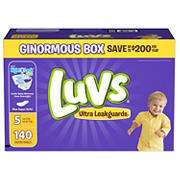 Luvs Ultra Leakguards Diapers, Size 5, 140 ct.