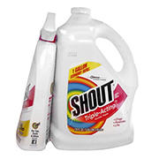 Shout Stain Remover, 1 gal. with Spray Bottle, 22 oz.