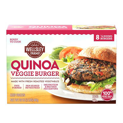 Wellsley Farms Quinoa Veggie Burgers, 8 ct.