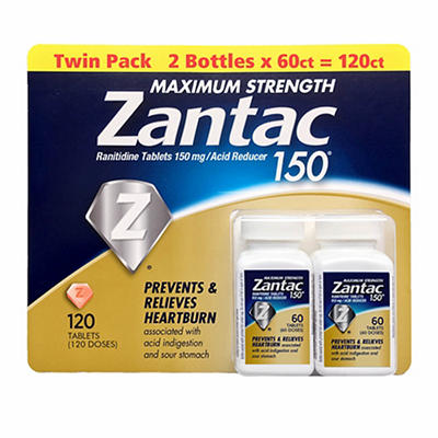 Zantac 150 Maximum Strength Tablets, 2 pk./60 ct.