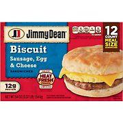 Jimmy Dean Frozen Sausage, Egg & Cheese Biscuit Sandwiches, 12 ct.