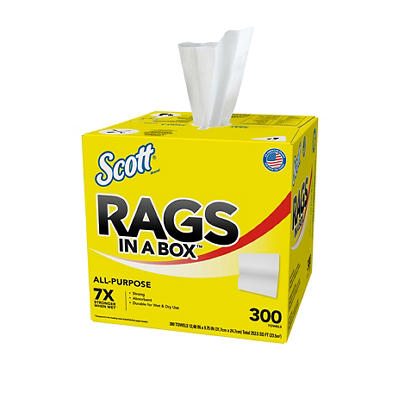 Scott Rags in a Box 300-Sheet Paper Towel Roll