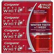 Colgate Optic White Toothpaste, 4 pk./5 oz.