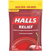 Halls Cherry Cough Suppressant Drops, 200 ct.