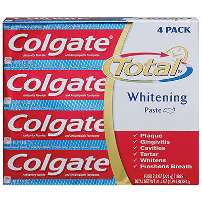 Colgate Total Advanced Whitening Toothpaste, 4 pk./5.8 oz.