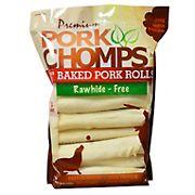 Premium Pork Chomps Baked Pork Rolls Dog Treats, 18 ct.