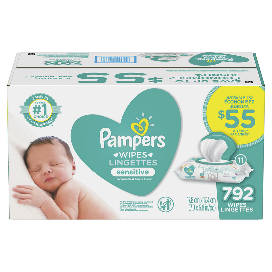 Pampers Sensitive Baby Wipes 800 Ct Bjs Wholesale Club