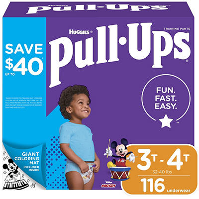 Huggies Pull-Ups Learning Designs Training Pants for Boys, Size 3T-4T,