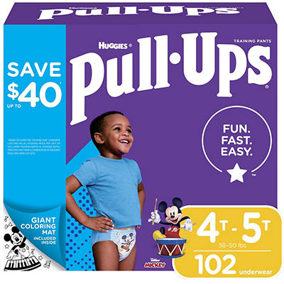 Huggies Pull-Ups Learning Designs Training Pants for Boys, Size 4T-5T,