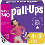 Huggies Pull-Ups Learning Designs Training Pants for Girls, Size 4T-5T, 102 ct.
