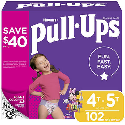 Huggies Pull-Ups Learning Designs Training Pants for Girls, Size 4T-5T